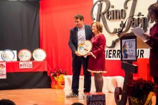 Recibiendo el Premio Frailes en los Premios Reino de Jaén.