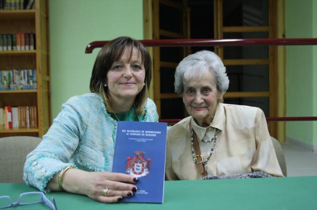 En Castillo de Locubín presentando el libro sobre los Humanes con Carmen Juan Lovera.