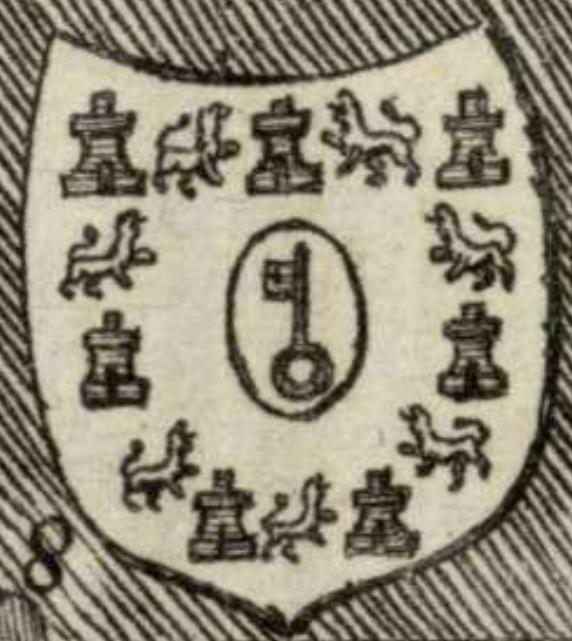 Escudo de Castillo de Locubín en el Atlante español. S. XVIII